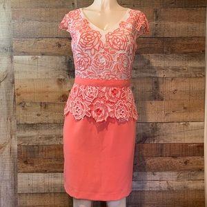 Antonio Melani coral sheath dress Size 6